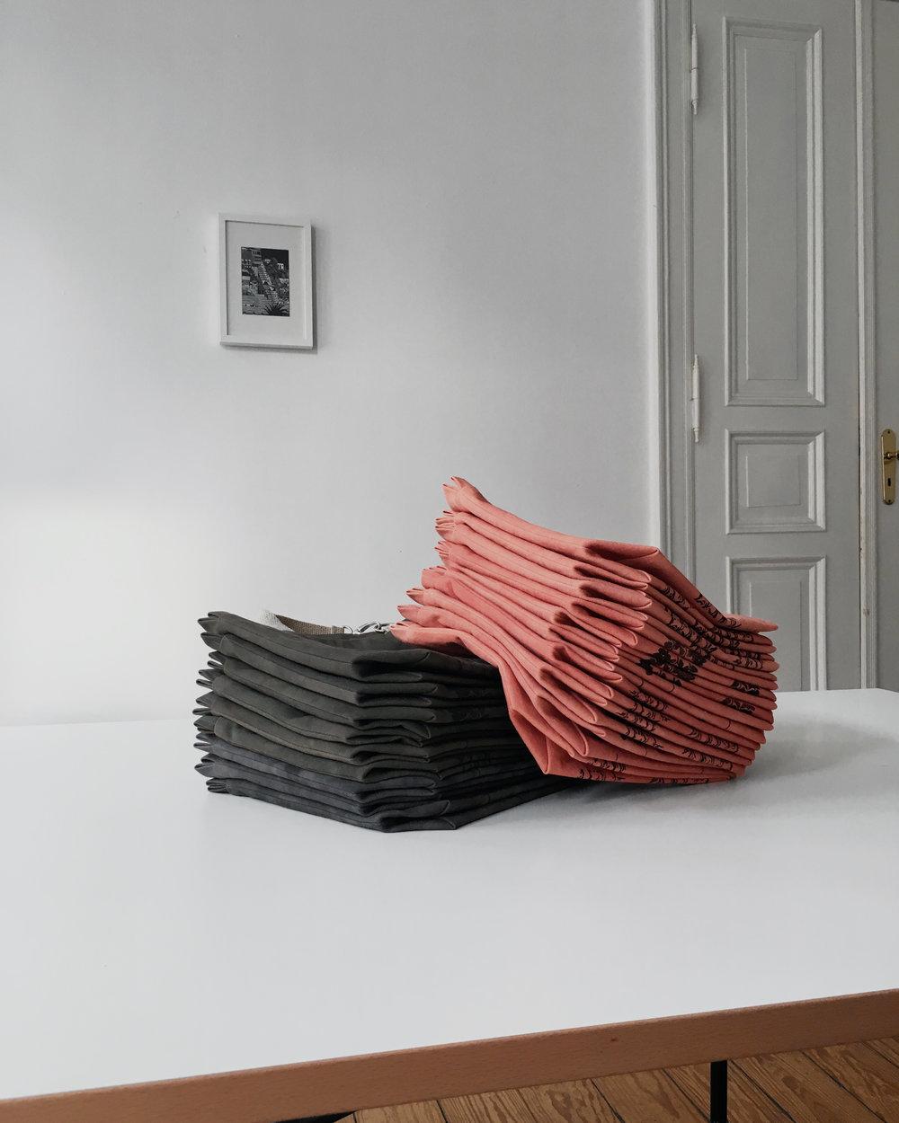 Botanically dyed project bags at Edinburgh Yarn Festival #knitting #bag #eyf