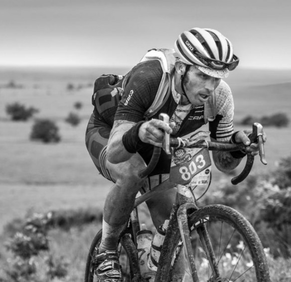 Dirty Kanza 200 legend Yuri Hauswald (Scott/SRAM). Image courtesy Adventure Monkey..