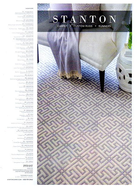 Architectural Digest - May 2016. Featured Designer in Ad, Kate Singer Home