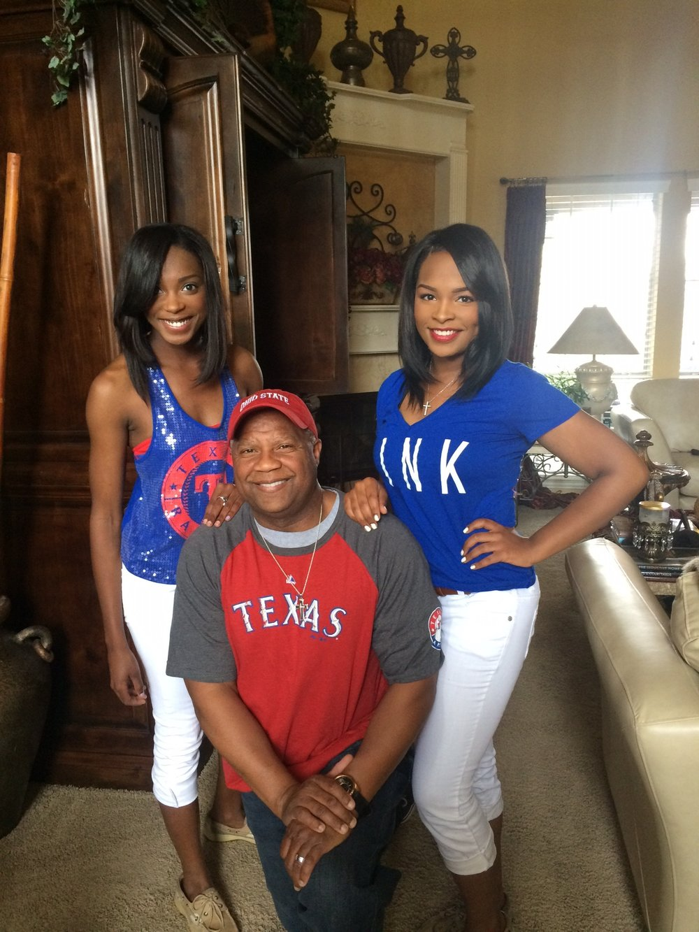 Keith and his two daughters at home in Richardson, Texas.