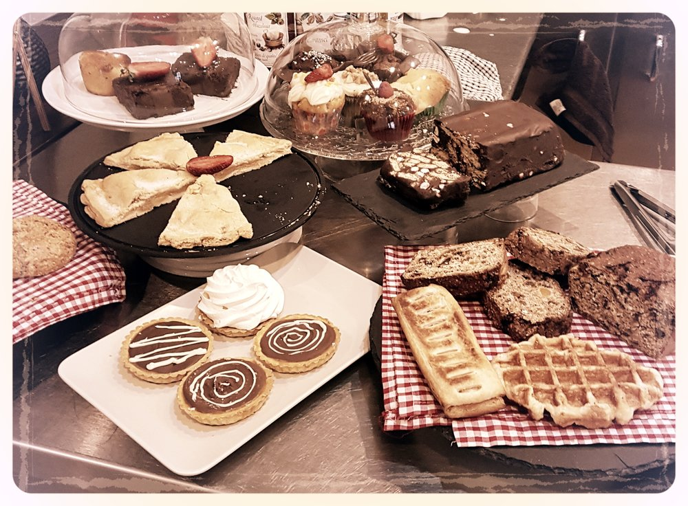 A touch of indulgence - We also have an assortment of desserts, like our freshly-made scones, muffins, chocolate biscuit cake served with cream to name but a few.