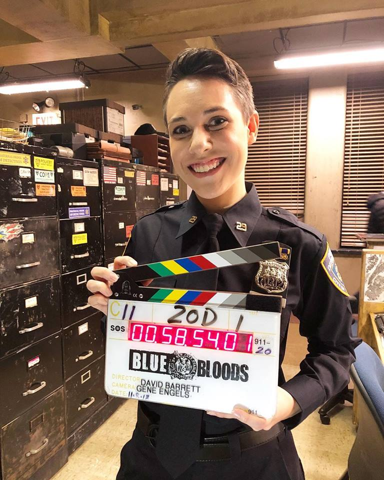 Booked 1st network co-star role on CBS's Blue Bloods - Thanks to Eddie Rabon at Take 3, Dan Patack & Sekka Scher at Ellipsis, and the lovely Blue Bloods team! Photo by episode writer Dan Truly.