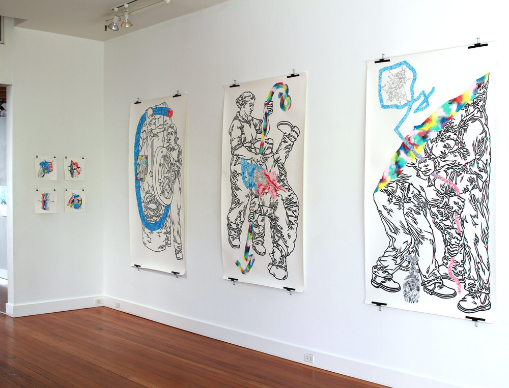 """LineWork"" solo show, Ampersand Gallery"