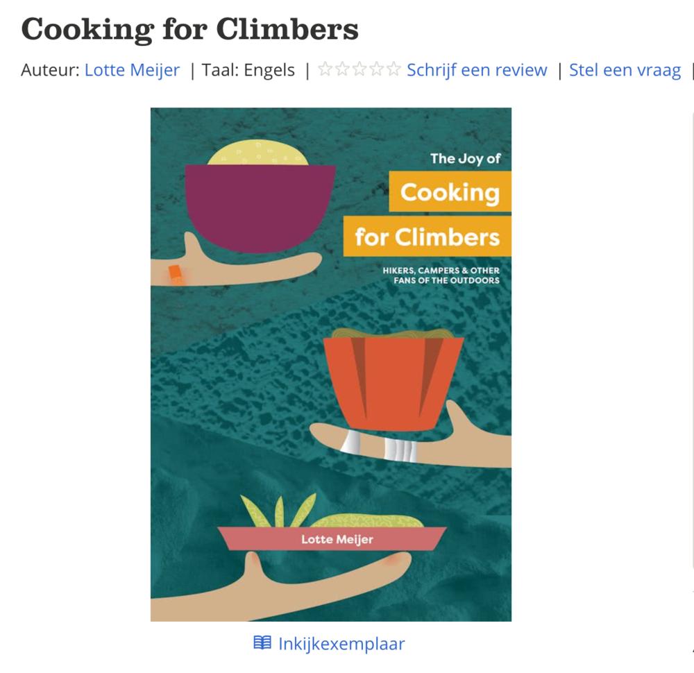 nu te koop op bol.com! - Cooking for Climbers is nu ook beschikbaar op bol.com,met IDEAL en gratis verzending.