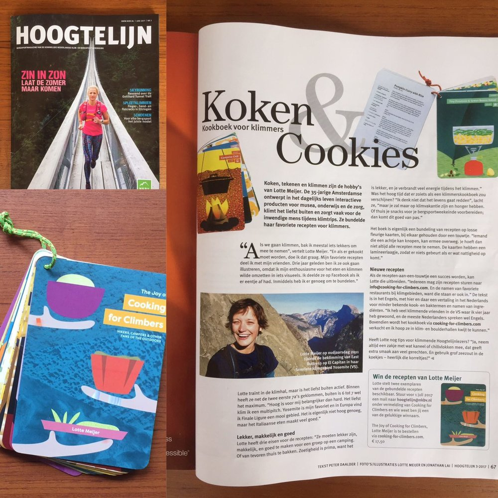 Hoogtelijn, June issue - An interview with Lotte about the cookbook in the NKBV Magazine