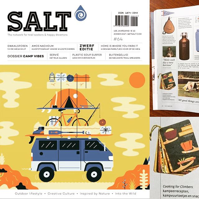Woohoo! Cooking for Climbers got  mentioned in @saltmagazine 's summer edition! With lots of other great ideas for outdoor trips. So get it! #saltmagazine -#promotion #cookingforclimbers #fame #inprint #magazine #outdoors #outdoor