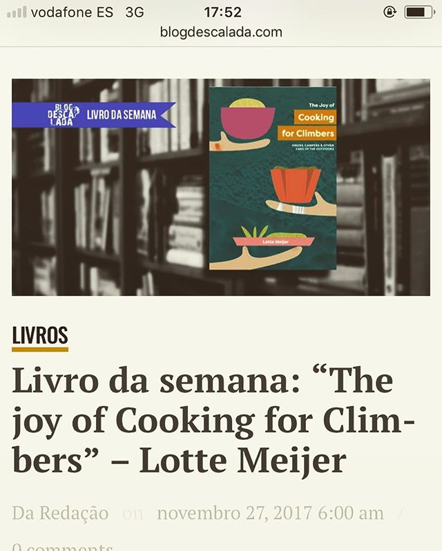 Book of the Week at: http://blogdescalada.com/livro-da-semana-the-joy-of-cooking-for-climbers-lotte-meijer/ - a happy update from a sunny Siurana