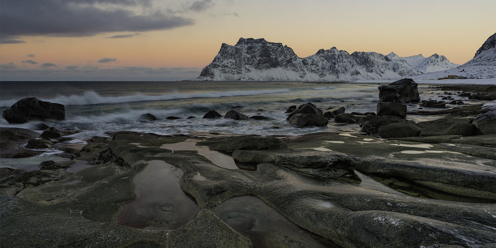Alpine Glow at Uttakleiv Beach - Lofoten, Norway