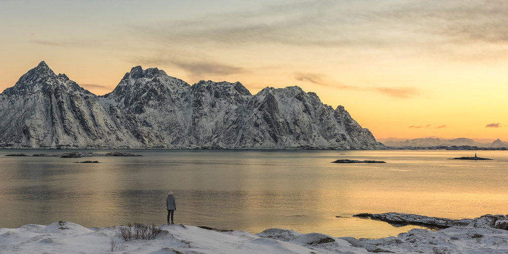 Looking south towards Henningsvær, Lofoten Islands, Norway