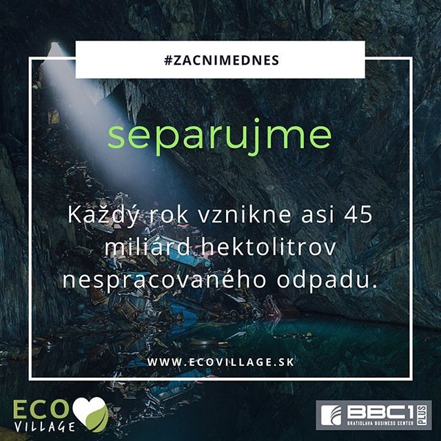 Vedeli ste, že denne kvôli znečiteniu planéty uhynie 150 živočíšnych a rastlinných druhov, každých 8 sekúnd zomrie na planéte dieťa kvôli kontaminovanej vode alebo že znečistenie Zeme postihuje viac ako 100 miliónov ľudí? .... Nejde o vymýsly, ale, žiaľ, o tvrdé fakty, ktoré odzkadľujú alarmujúci stav znečistenia našej planéty. Preto #zacnimednes a pomáhajme tak našej 🌎🌍🌏. ... @eco_village_sk #earth #environment #ecovillage #ev #zacnimednes #ecoskola #bbc1plus #caimmo #trash