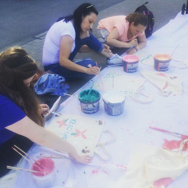 Dakujeme spolocnosti JUB za farby vdaka ktorym si dnes na Eco Village mozete zadarmo namalovat svoju vlastnu eco tasku 💚🌳🎨🛍 #evovillage #ev #eco #bag #bbc1plus #JUB
