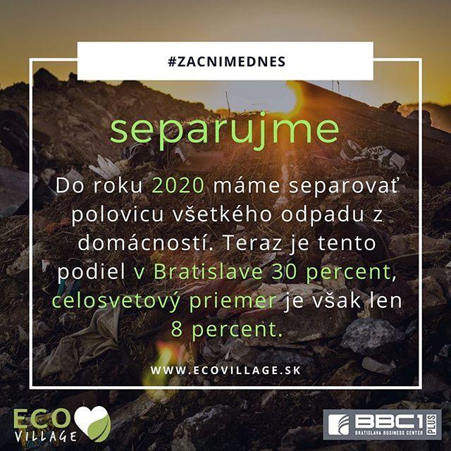 Prečo triediť odpad? 👉🏻 Vytriedený odpad sa môže opäť použiť, čím sa šetria surovinové prírodné zdroje a energie. 🌳💚🙏 🗑🌏🌍🌎👌 #ecolife #ecoskola #zacnimednes #earth #ourplanet #recycle #environment #ecovillage #bbc1plus  #setrimeprirodu