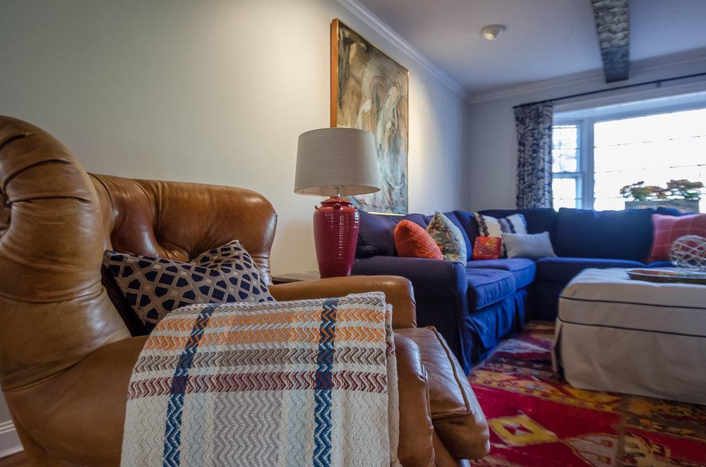 Family room textiles