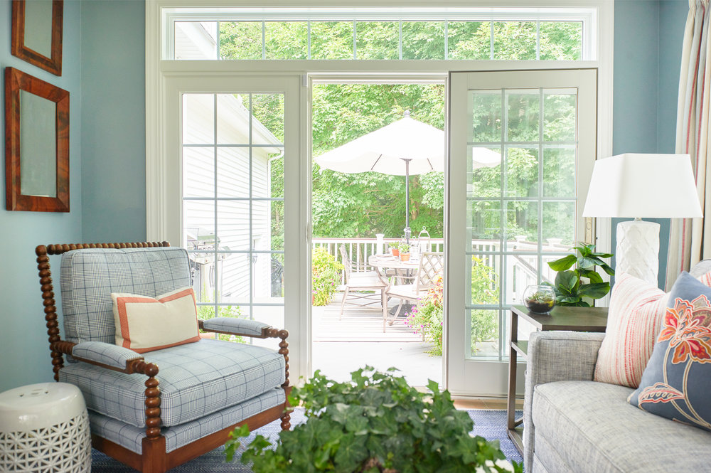 Reading nook by french door