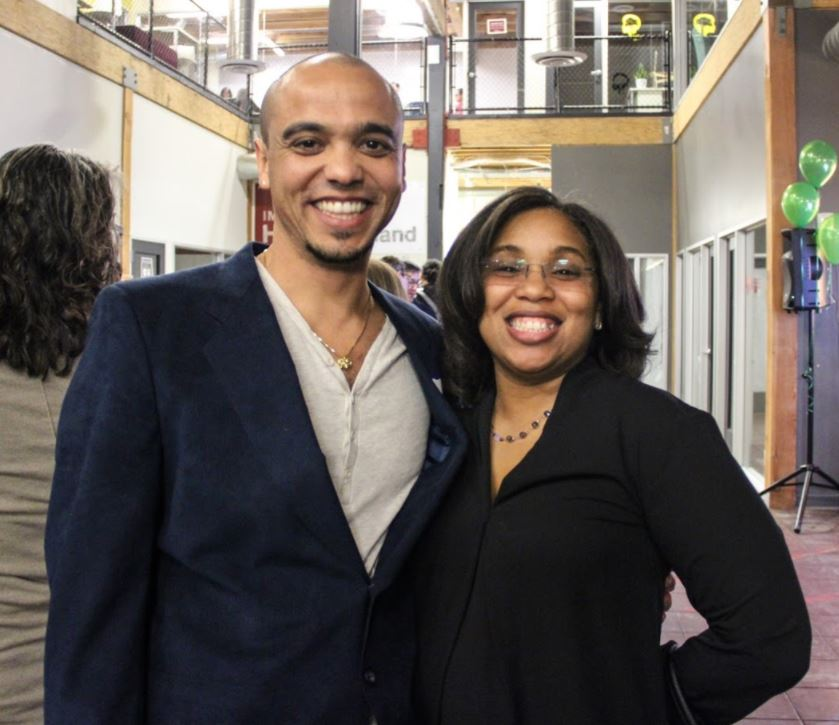 Our East Bay '18 Fellows. Left to Right: Rob Jackson (Beats Rhymes and Life, Inc.) and Artavia Berry (Super Stars Literacy).