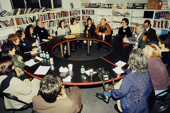 2002 Now governor Jerry Brown with Eureka Bay Area Fellows
