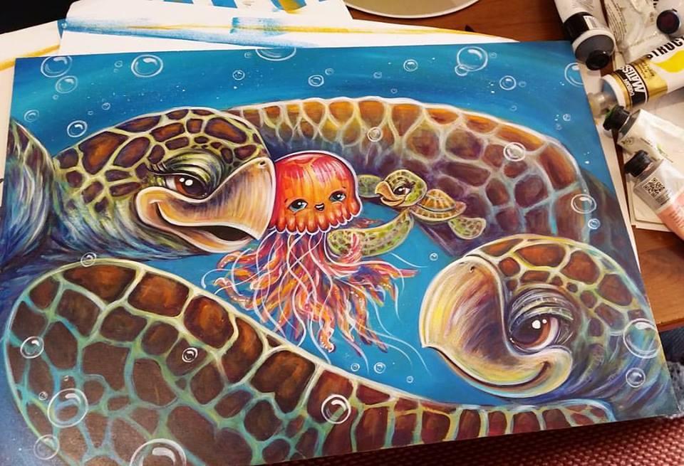Turtle children's book illustration Erika Pearce.jpg