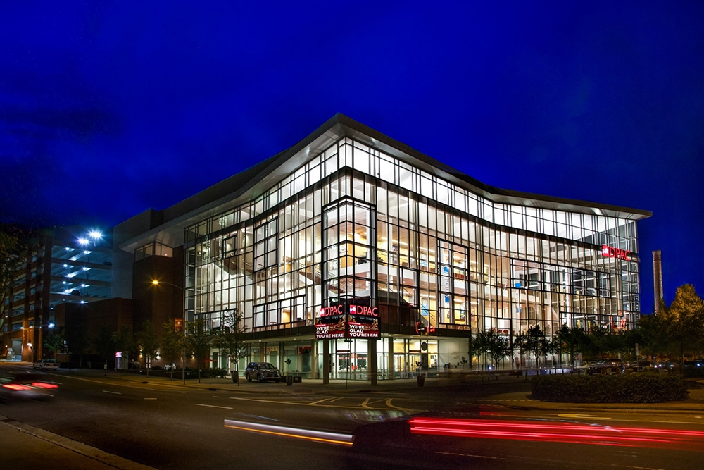 DURHAM PERFORMING ARTS CENTER (DPAC) - Consistently ranking in the top 5 of highest-attendance venues in the country, DPAC keeps visitors coming back from across the state for its quality of bookings. With must-see Broadway shows (like Hamilton, coming 2018) and high-profile acts like Bob Dylan, John Mellencamp, Jerry Seinfeld, and the Blue Man Group, DPAC continues to grow in attendance every year with visitors and local season-ticket holders alike.