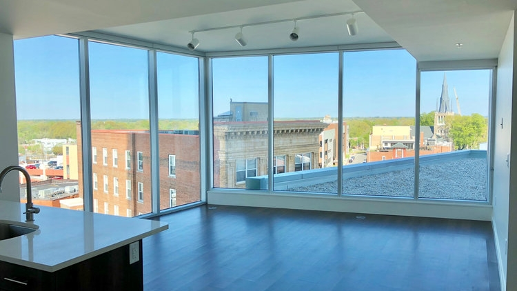 TWO BEDROOMS AVAILABLE - - Floor-to-Ceiling Glass in Every Unit- Chef-Ready Kitchens- Private Balconies with Amazing Views- Pet-Friendly!- Downtown Durham Parking