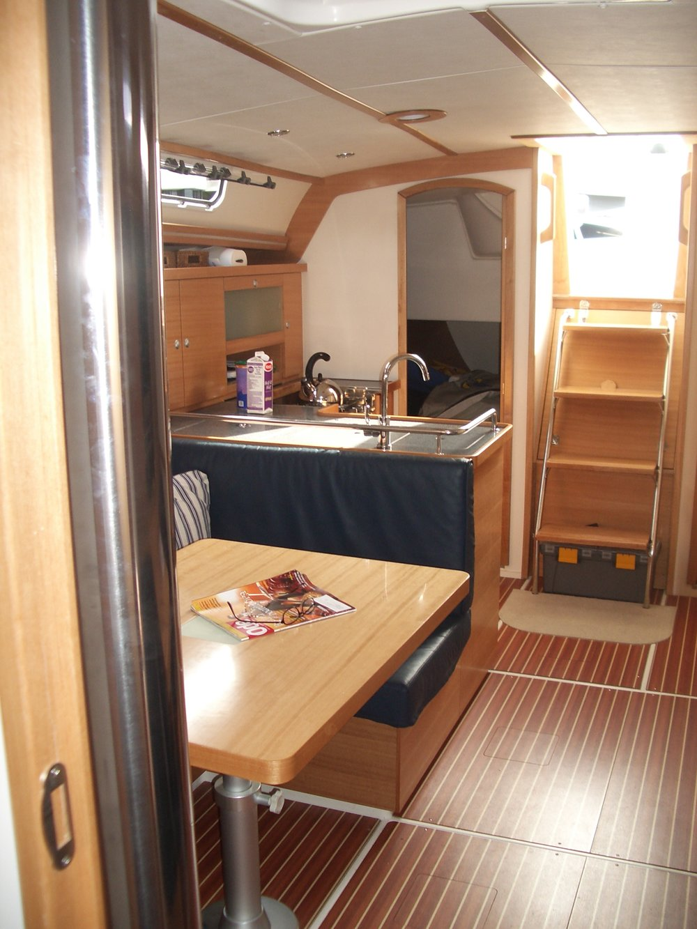 Lightheart's salon, looking aft