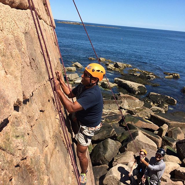 Another perfect day in paradise! #atlanticclimbingschool #climbmaine #climbacadia #rockclimbing #acadianationalpark