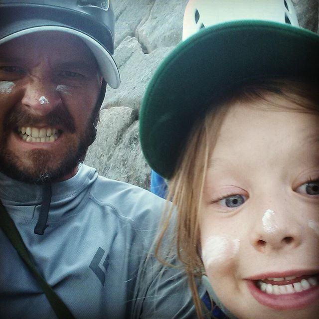 What did you do on your sixth birthday? Anna and her family spent the day climbing at the #precipice with ACS guide @scott.ryan  #warpaint #nofunatall #meow #climbacadia #atlanticclimbingschool @acadianps