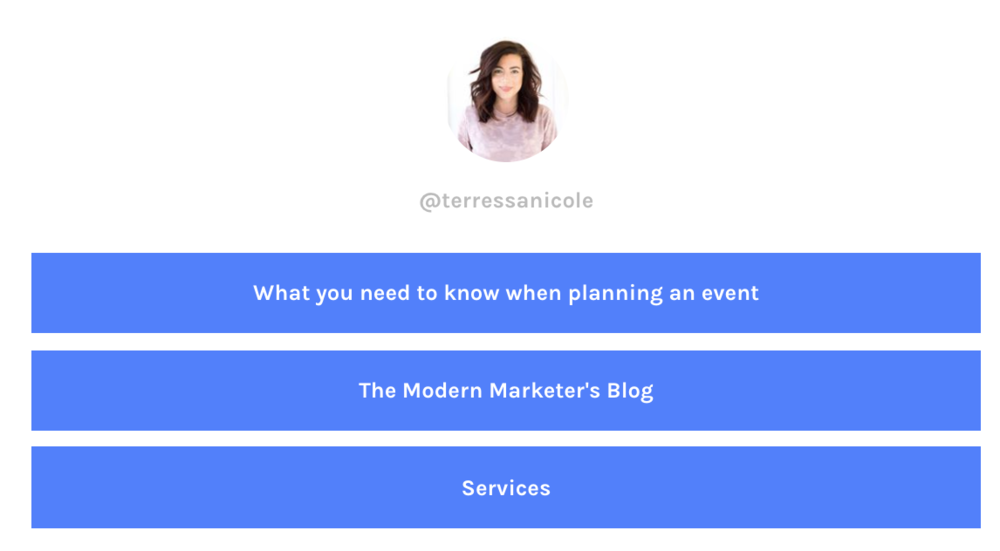 LinkTree Page