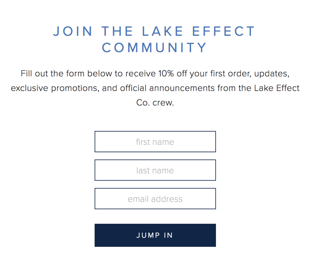 Lake Effect Co Newsletter