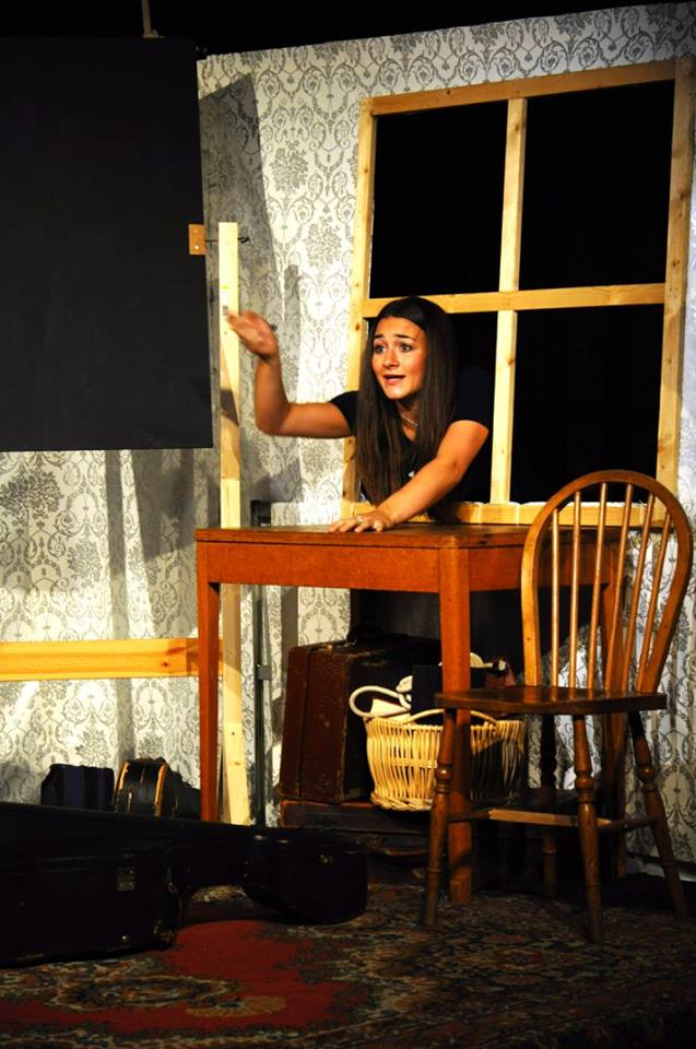 Tara Purcell rehearsing The Ladykillers