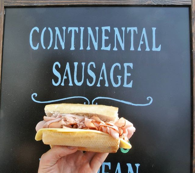 You know what's great about sandwiches? 🥪 You can eat them anytime of the day and in any weather! And if you're struggling in this heat wave like we are.. Get the cold cuts! Stay cool LA! 🌞 . . . #continentalsausage #heatwave #hot #sandwich #coldcuts #meat #cheese #glendale #losangeles #deli #market #fresh #lunch #germandeli #food #local #smallbusiness #madetoorder