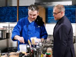 Chef Holland with Alton Brown