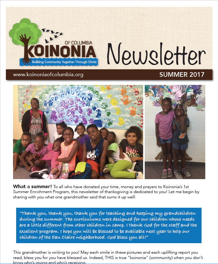 Summer 2017 Newsletter - Available Now!