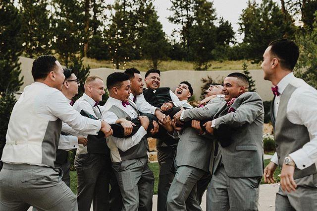 So... how's your #monday going? . . . . . #weddingmoment #wedding #groomsmen #groom #denverwedding #denver #teammates #ouch #mmp #boda #weddingphotography #casamento