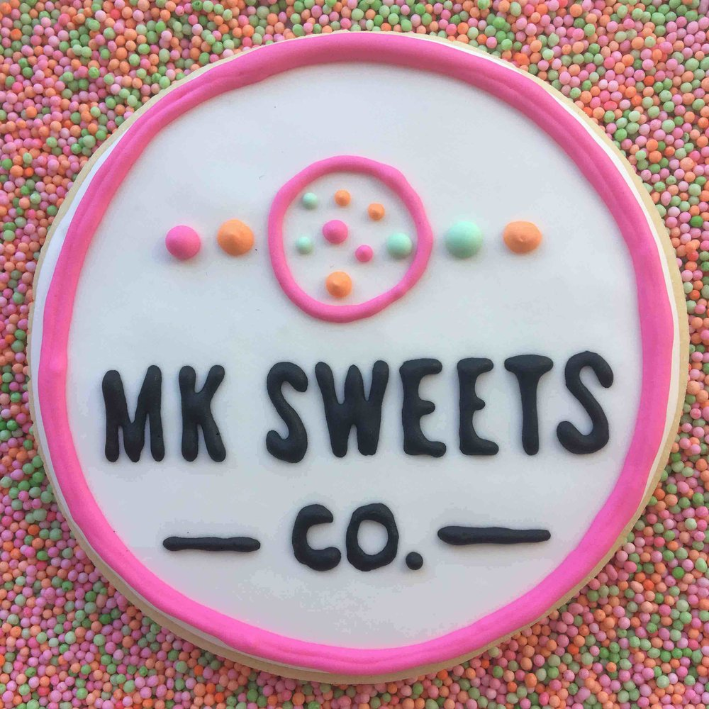 MK Sweets Co Logo Cookie