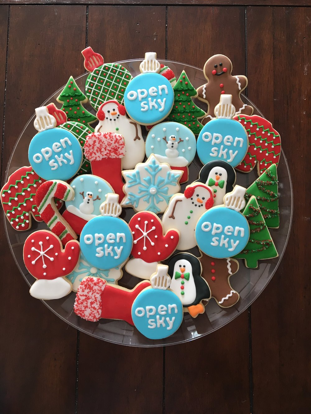 Winter Holiday Sugar Cookie Assortment