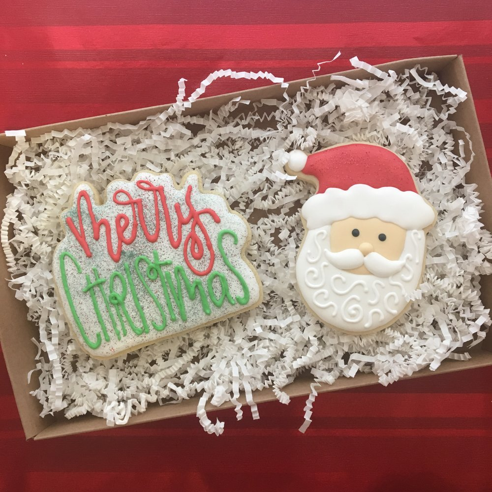 Merry Christmas Sugar Cookie 2-pack Gift Box