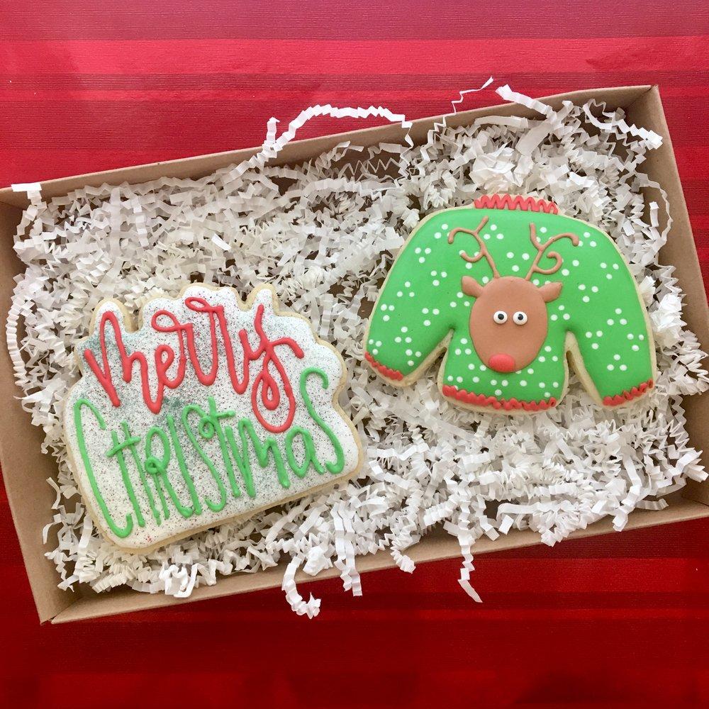 Merry Christmas Sugar Cookie 2-pack Gift