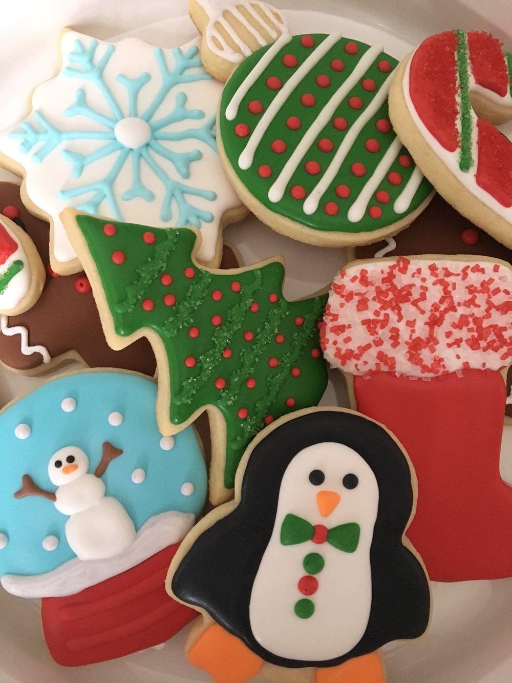 Winter and Christmas Sugar Cookies