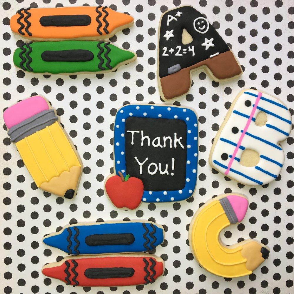 Teacher's Appreciation Thank You Sugar Cookies