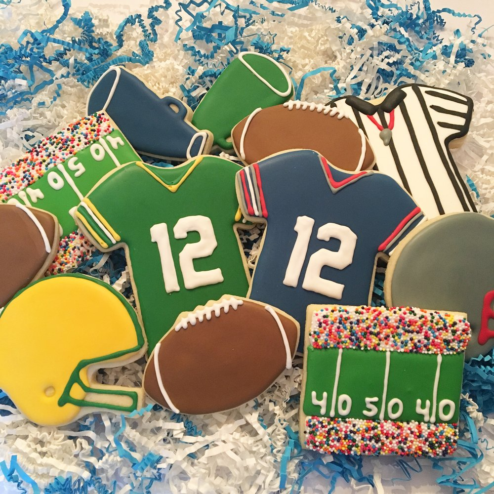 "Football ""Big Game"" Sugar Cookies"