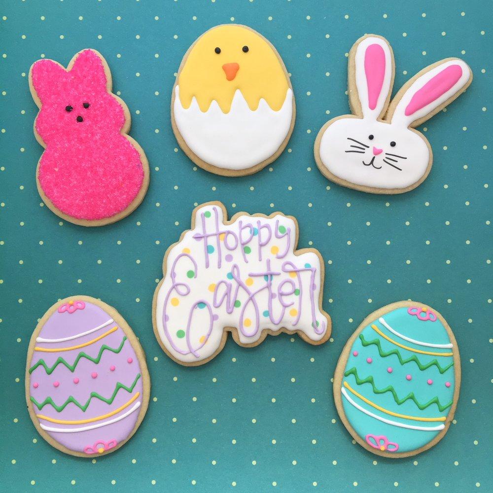 Custom Happy Easter Sugar Cookies