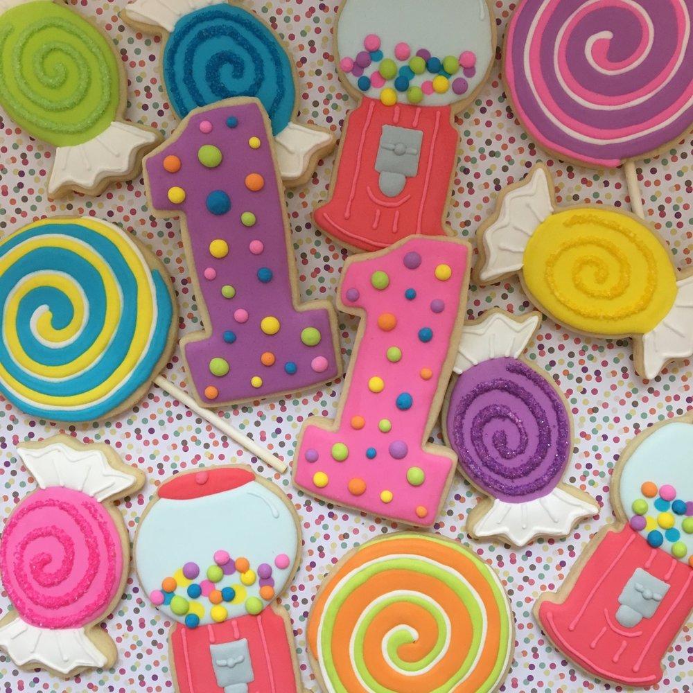 First Birthday Custom Sugar Cookies