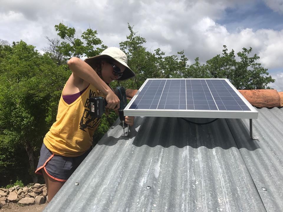 Savana installing solar off-grid in rural Nicaragua.