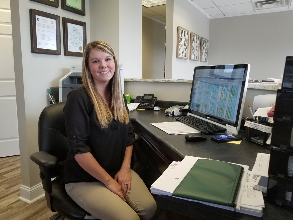 "Keeshia Barnett - Office Manager""I love getting to see the progress our patients make as they get better""Keeshia is a graduate of Fairview High School and is usually the first person you see when you come to LifeWork! She loves people and the daily interactions with our patients. Keeshia and her husband Brian have 3 beautiful girls, Jocelyn Grace, Braylee Anne, and Hunter Claire. She loves to craft, take pictures, and spend time outdoors with her family.What motivates you? God, without him I would not be where I am."