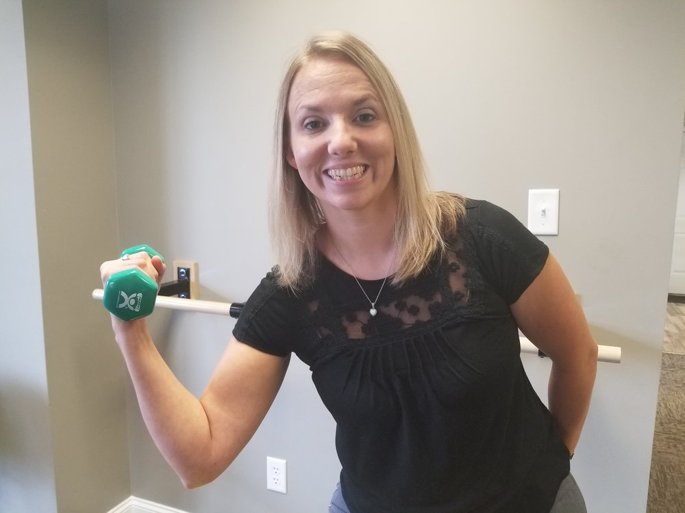 "Jennifer Higgins, PTA - Physical Therapist Assistant""I enjoy working in such a tight-knit community and working with my patients one-on-one""Jennifer, originally from Iowa, lives in Decatur with her husband. They have 4 children that are active in theater, football, and karate. They like to spend time together hiking, geocaching, kayaking, going to concerts, and traveling.What motivates you? God, my husband and my patients"