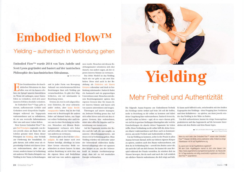 International Yoga Magazine Features Embodied Flow Yoga Teacher Training Britta Kimpel P1.jpg