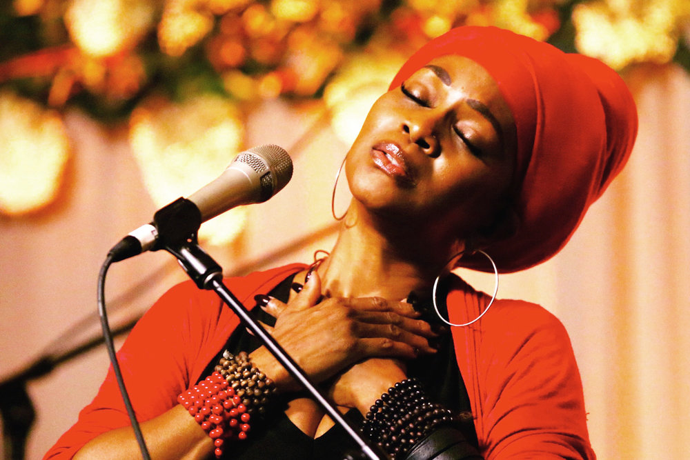 """CC WHITE   C.C. White's concerts have won her worldwide recognition as """"The Queen of Soul Kirtan,"""" enrapturing audiences like no other. Her critically acclaimed CD """"This IS Soul Kirtan!"""" debuted at the top of the iTunes World Chart & is the first of its kind to feature a blend of Kirtan, Soul, Blues, Reggae, Gospel, R&B and Jazz. She's worked with Lenny Kravitz, Sting, Neil Young, Ben Harper, Charlie Musselwhite, Jackson Browne, Crosby, Stills & Nash, Joe Cocker, and Jason Mraz to name a few. Get ready for soul-freeing, foot-stomping, heart-opening Soul Kirtan!   www.soulkirtan.com"""