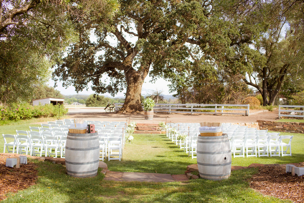 california wedding venue: santa margarita ranch