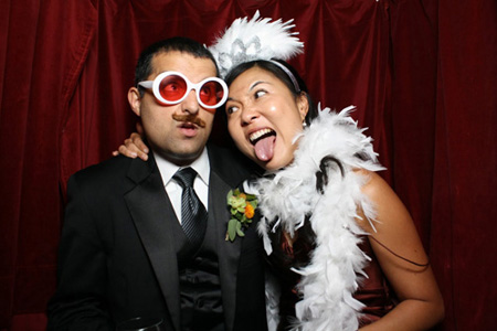 brown booth photo booth