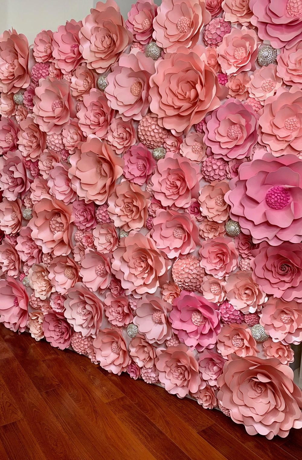mahi rehan flower backdrop rentals